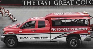 Track Drying Team At Work On Bristol Motor Speedway