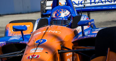 Scott Dixon In The No. 9 PNC Bank Chip Ganassi Racing Honda At Long Beach