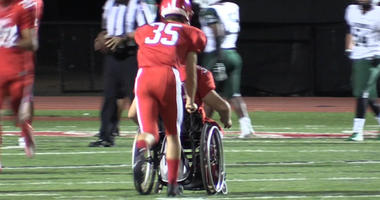 How Player in Wheelchair Became Vital Part of High School Football Team