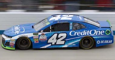 Kyle Larson's No. 42 Credit One Bank Chip Ganassi Racing Camaro