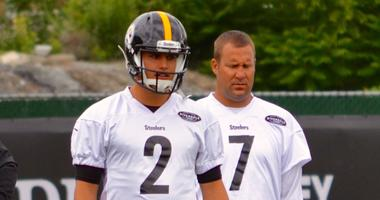 Mason Rudolph and Ben Roethlisberger