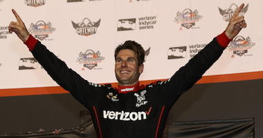 Will Power In Victory Lane At Gateway Motorsports Park