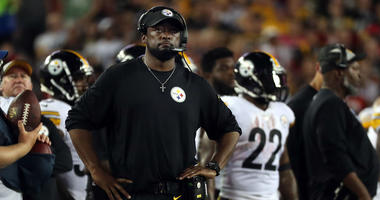 Pittsburgh Steelers head coach Mike Tomlin during the second half at Raymond James Stadium.