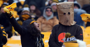 Steelers and Browns fans