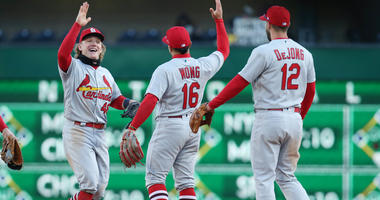 Cardinals celebrate win over Bucs