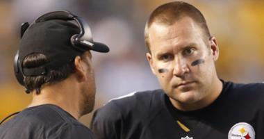 Steelers QB Ben Roethlisberger And Offensive Coordinator Todd Haley