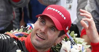 2018 Indy 500 Champion Will Power Celebrates With A Bottle Of Milk In Victory Lane