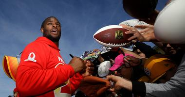 Pittsburgh Steelers player Le'Veon Bell (26) signs autographs during AFC team practice for the Pro Bowl at ESPN Wide World of Sports.