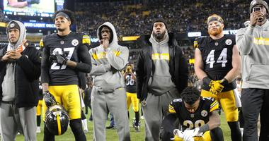 The Pittsburgh Steelers defeated the Cincinnati Bengals 16-13 but stayed on the field to watch the Ravens and Browns game on the big screen at Heinz Field.