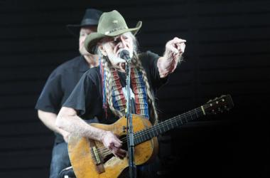 Willie Nelson performs on the Palomino Stage during the 2017 Stagecoach California's Country Music Festival.