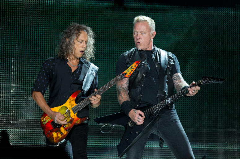 Kirk Hammett and James Hetfield of Metallica
