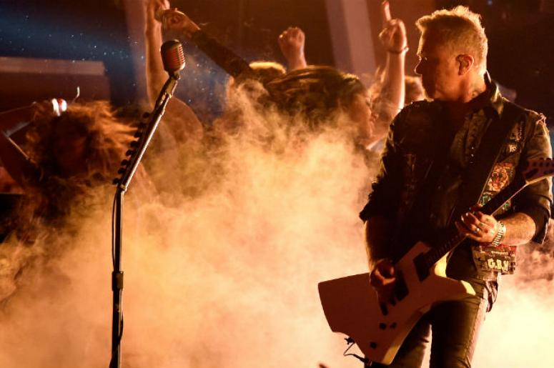 James Hetfield of Metallica performs live