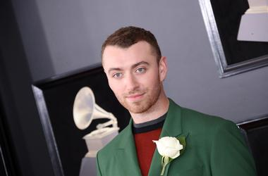 Jan 28, 2018; New York, NY, USA; Sam Smith arrives at the 60th Annual Grammy Awards at Madison Square Garden. Mandatory Credit: Dan MacMedan-USA TODAY