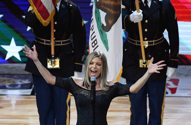 Fergie National Anthem NBA All Star Game