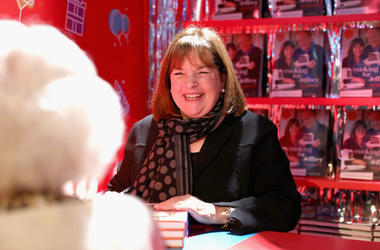 Ina Garten signs cookbooks during Food Network's 25th Birthday Party Celebration at the 11th annual New York City Wine & Food Festival at Pier 92 on October 13, 2018 in New York City.