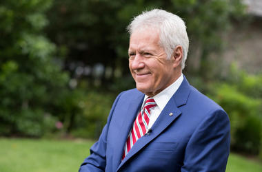 TV personality Alex Trebek attends the 150th anniversary of Canada's Confederation at the Official Residence of Canada on June 30, 2017 in Los Angeles, California.
