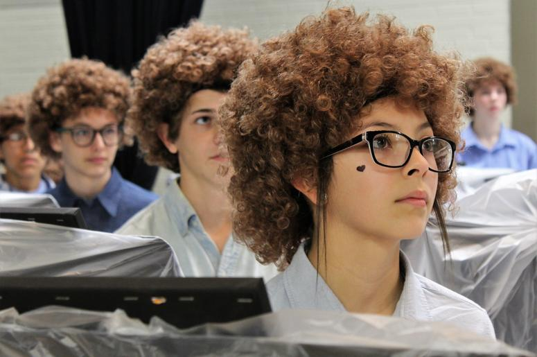 Middle School Art Students Dress Up As Bob Ross For Flash Mob