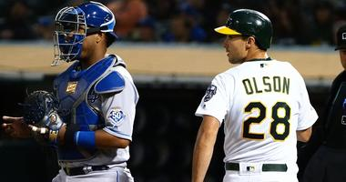 Chapman, A's break through in 6th to beat Royals 4-1