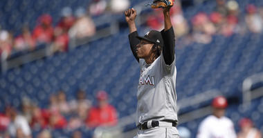 Urena throws 1st complete game, Marlins rout Nationals 12-1
