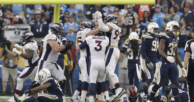 McManus' FG as time expires lifts Broncos over Chargers