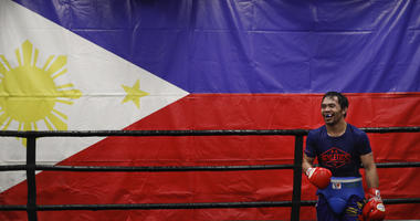Manny Pacquiao talks about his career at breakfast