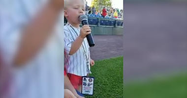 Watch This 3-Year-Old Boy's Adorable Rendition of the National Anthem