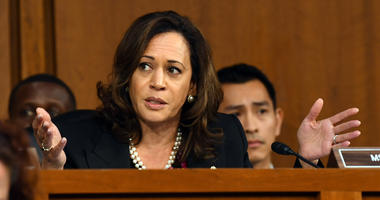 Sen. Kamala Harris (D-Calif.) speaks during the hearing for Supreme Court Associate Justice nominee Brett Kavanaugh.