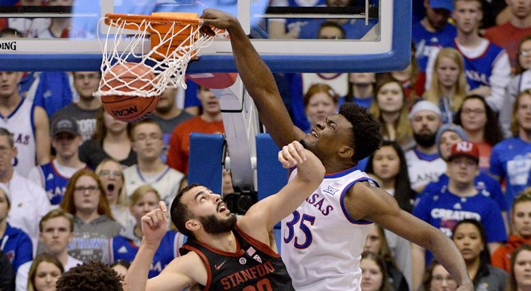 Kansas loses Azubuike for season to torn hand tendon