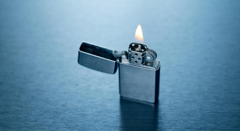 Image of lighter on fire.