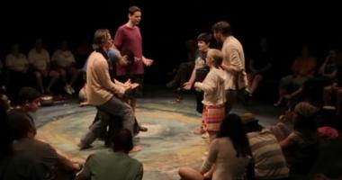 Students learn the Hunter Heartbeat method during a Shakespeare workshop