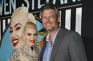"Gwen Stefani and Blake Shelton arrive on the red carpet for her grand opening of ""Gwen Stefani Just a Girl"" residency show at Planet Hollywood Resort and Casino on Wednesday, June 27, 2017, in Las Vegas, Nevada."