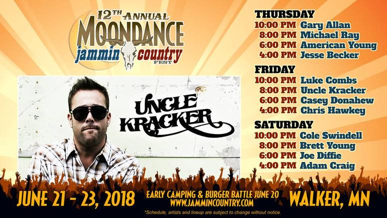 Free ticket friday win moondance jammin country fest tickets plus get your tickets every hour on the 09s from 6a 6pm check out the full lineup below because youll get to pick your meet greet m4hsunfo