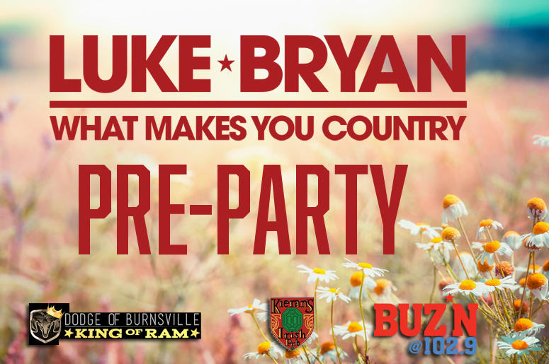 Everything you need to know for luke bryan at target field buzn well have last chance tickets meet greet passes youll be able to take a photo with the big heads and of course some awesome giant yard games m4hsunfo