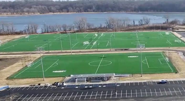 Aerial Shot CCP Soccer Complex - Five Fields