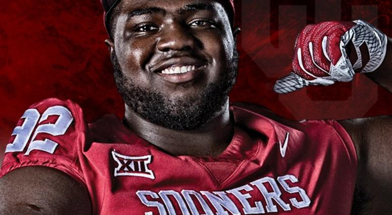 Michael Thompson in a Oklahoma Sooner's jersey