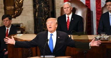 Jan. 30, 2018; Washington, DC, USA; President Donald Trump delivers the State of the Union address from the House chamber of the United States Capitol. Mandatory Credit: Jasper Colt-USA TODAY