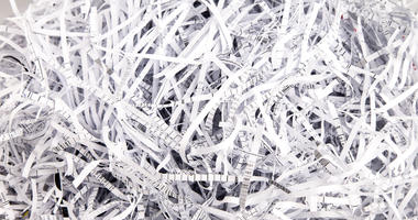 pile of paper shreds