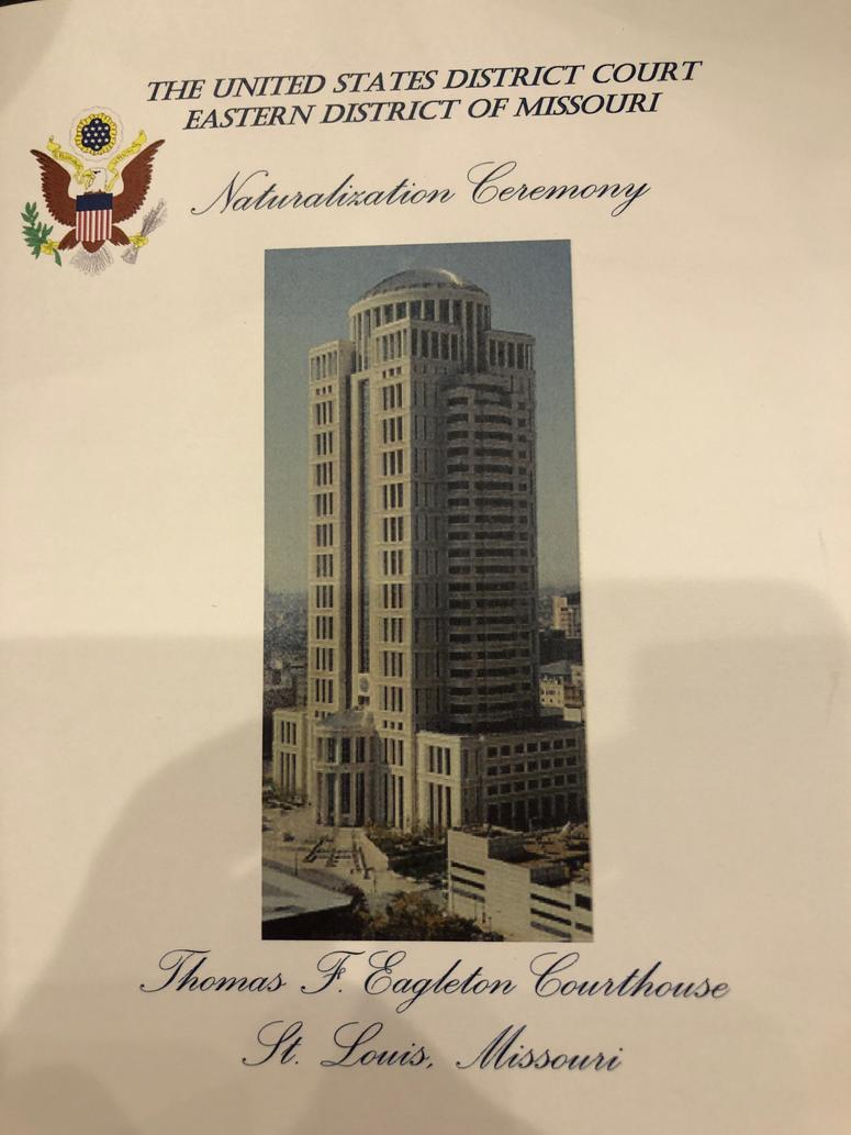 Program for the Naturalization Ceremony