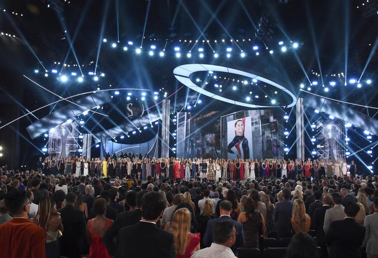 Recipients of the Arthur Ashe Award for Courage appear at the ESPY Awards, at Microsoft Theater on Wednesday, July 18, 2018, in Los Angeles