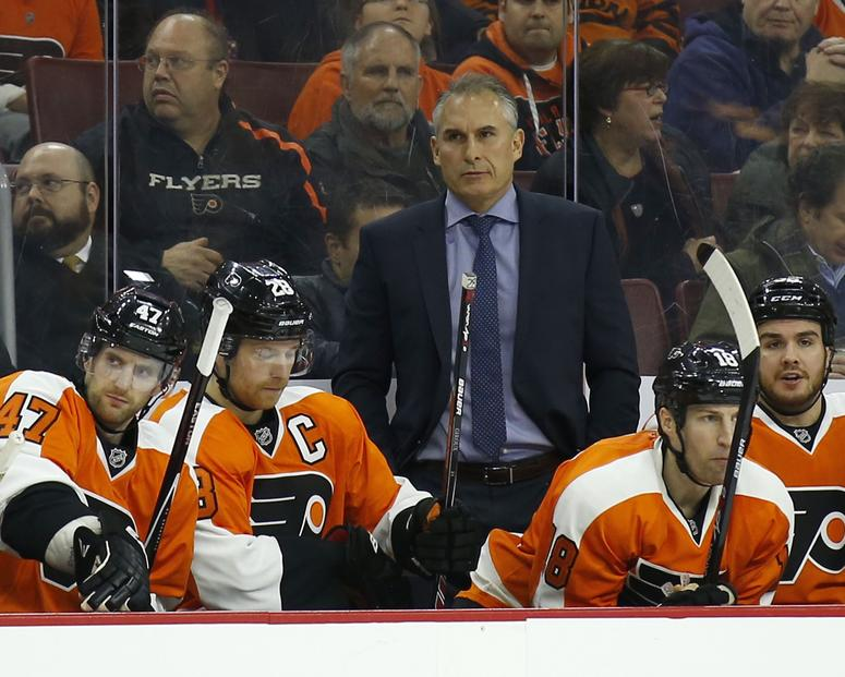 Craig Berube as Philadelphia Flyers head coach in 2014