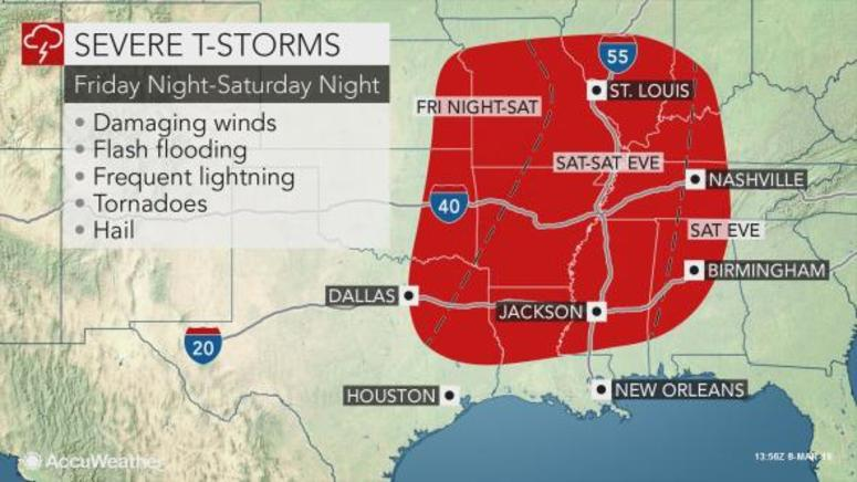 Severe weather threat on Saturday, hail and a brief tornado possible