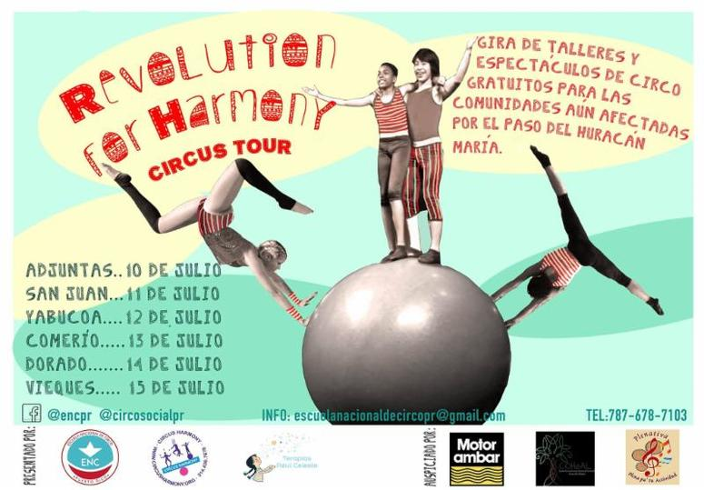 Revolution Circus for Harmony poster courtesy of Circus Harmony
