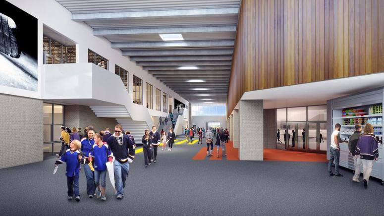 Rendering of the coming St. Louis Community Ice Center.