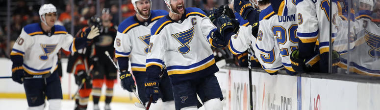 LISTEN: Thomas, Pietrangelo lift St. Louis Blues to late victory over Anaheim Ducks