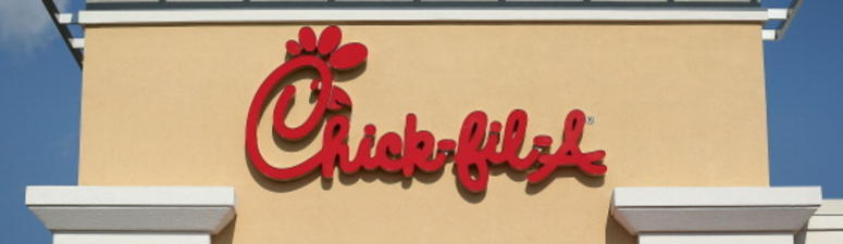 The sign of a Chick-fil-A is seen July 26, 2012 in Springfield, Virginia.