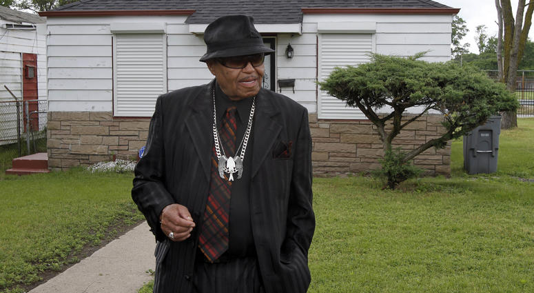 In this June 2, 2010 file photo, Joe Jackson tours the his family home in Gary, Ind.