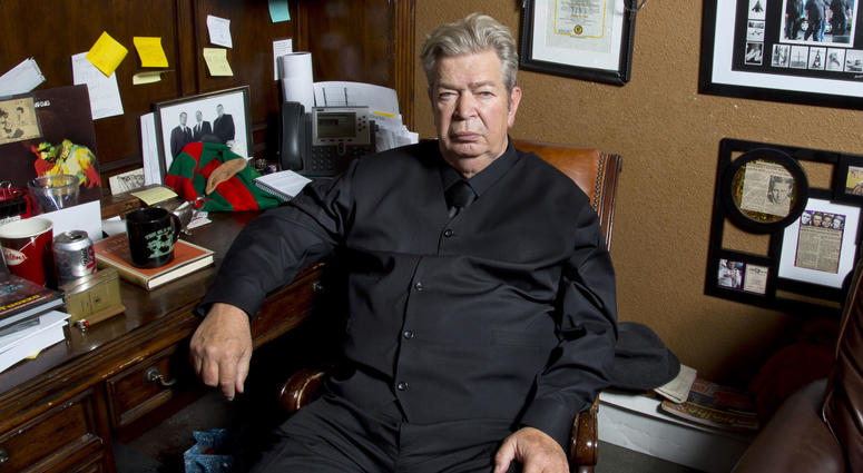 """This undated image released by History shows Richard Harrison from """"Pawn Stars."""" Harrison's son Rick posted on Facebook, Monday, June 25, 2018, that his father died."""