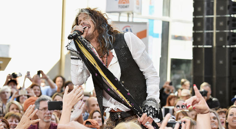 Steven Tyler performs on NBC's 'Today' at Rockefeller Plaza on June 24, 2016 in New York City.