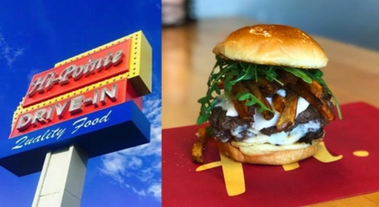 Hi-Pointe making a special burger with Lion's Choice roast beef for one day only