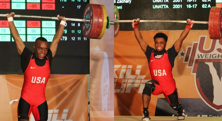 St. Louis weightlifters Jerome Smith and Antwan Kilbert compete at the U.S. Youth National Championships.